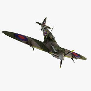 3d spitfire fighter aircraft model