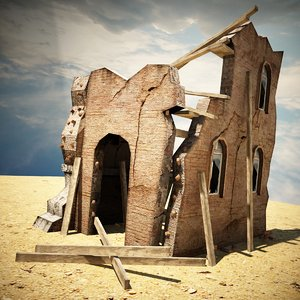 destroyed house games 3d max
