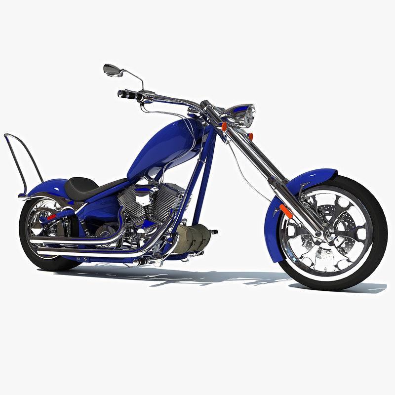 3d big dog motorcycle model