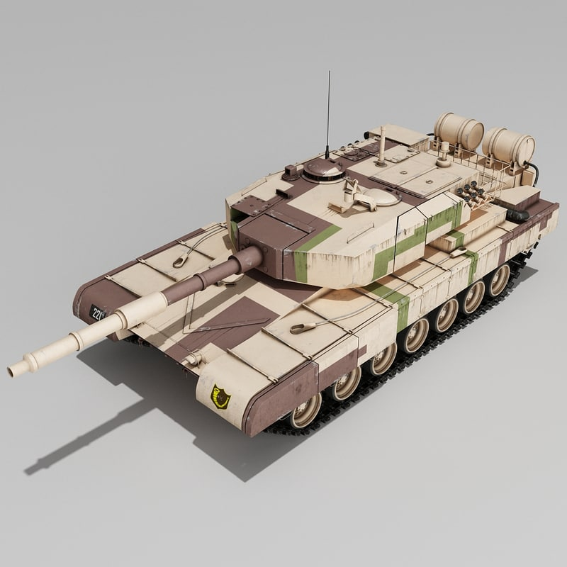 indian arjun tank main 3d obj