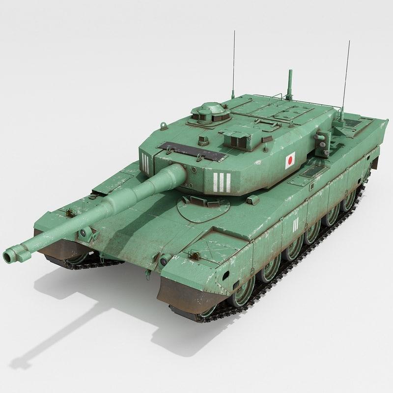 3d japanese type 90 tank model