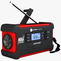 emergency solar radio digital max