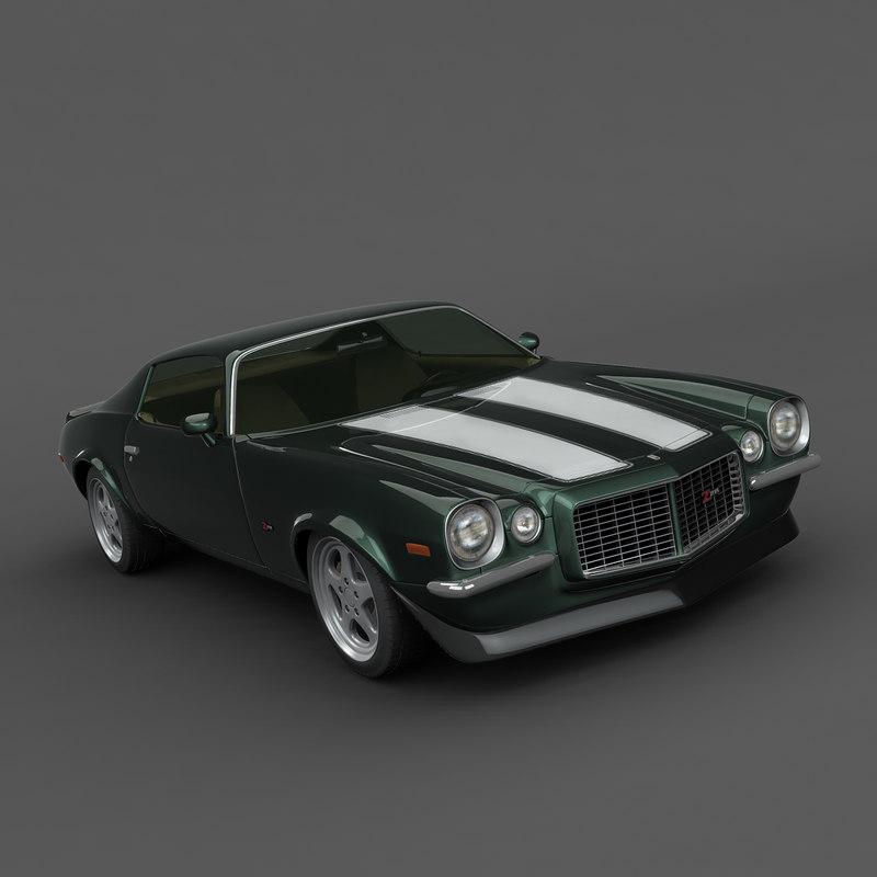 chevrolet camaro 1970 3d model