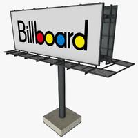 3d model billboard streets