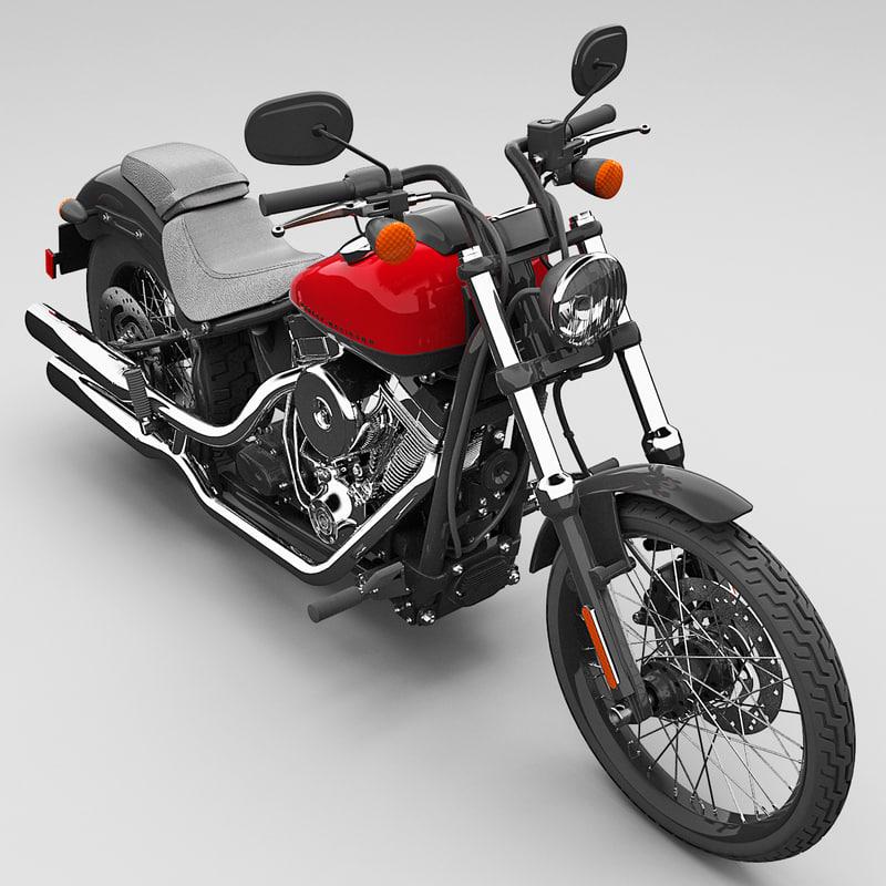 Harley Turbo Review: Harley Davidson Fxs Blackline 3d Model