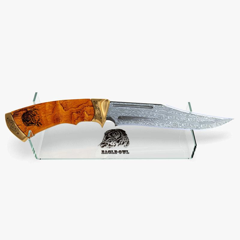3d hunting knife blade