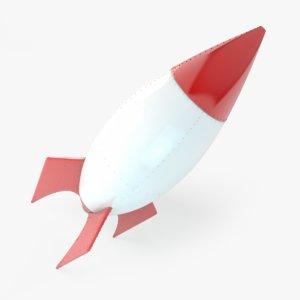 c4d cartoon rocket