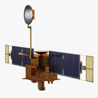 mars global surveyor satellite 3d max
