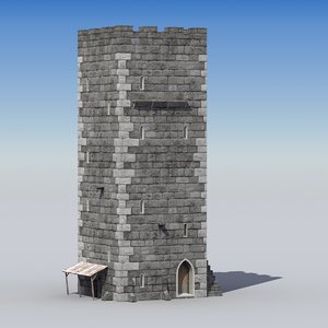 medieval castle tower 3d model