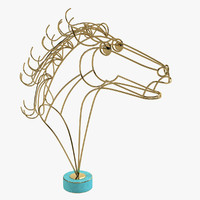 Curtis Jere Brass Horse Head Sculpture