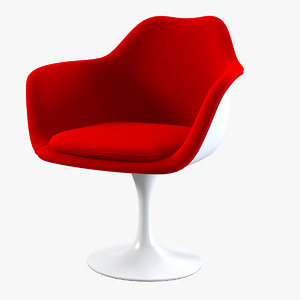 uphostered tulip style armchair 3d obj