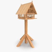 framework bird house 3d obj