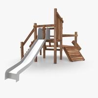 Playground Climbing Slide