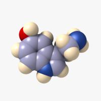 3dsmax serotonin molecule neurotransmitters