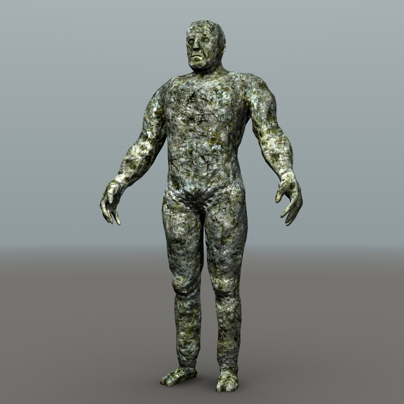 normal mapped golem 3d obj