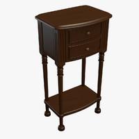 nightstand table 3d c4d