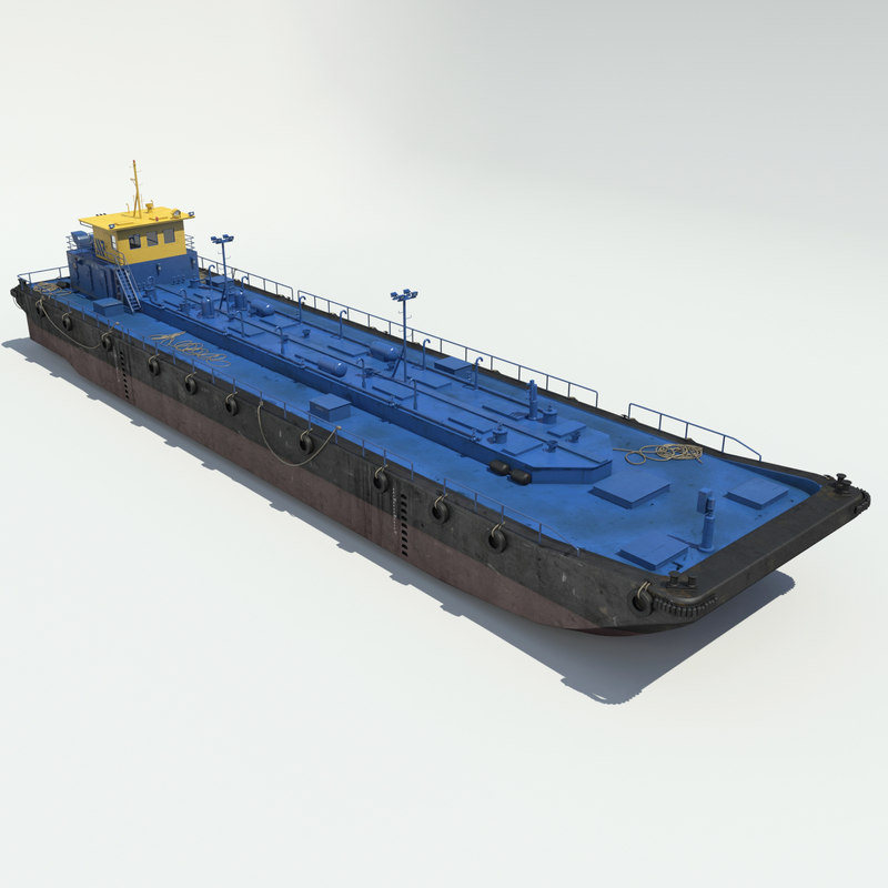 3ds max tanker barge