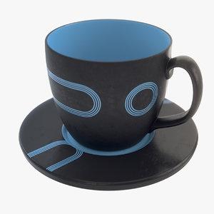 3d realistic large tea mug model