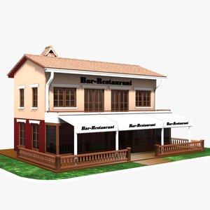 restaurant bar cafe 3d model