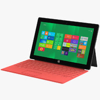 3d model orange microsoft surface tablet