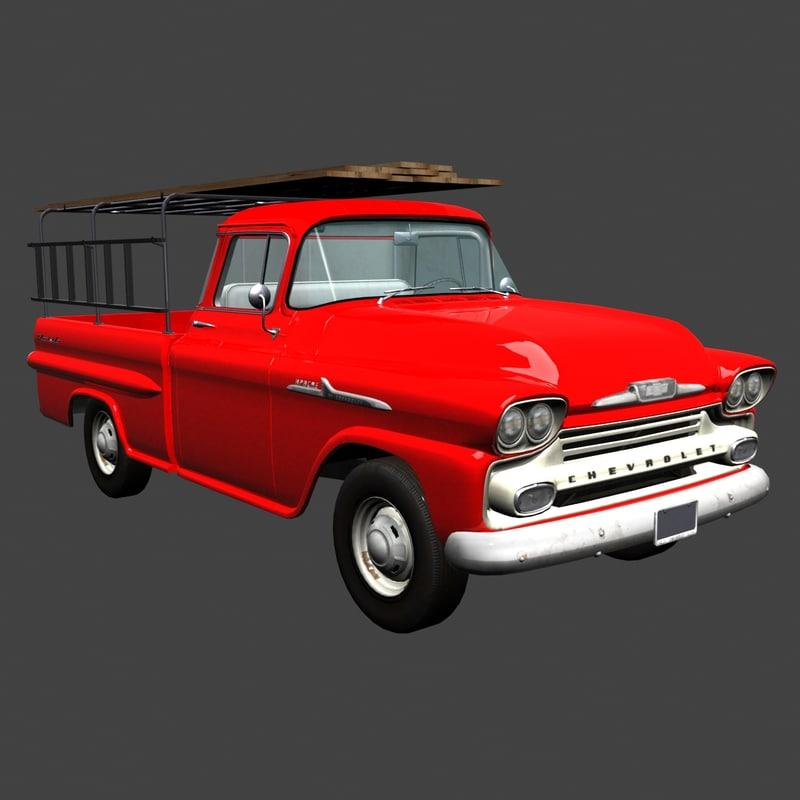 3d 1958 chevrolet apache