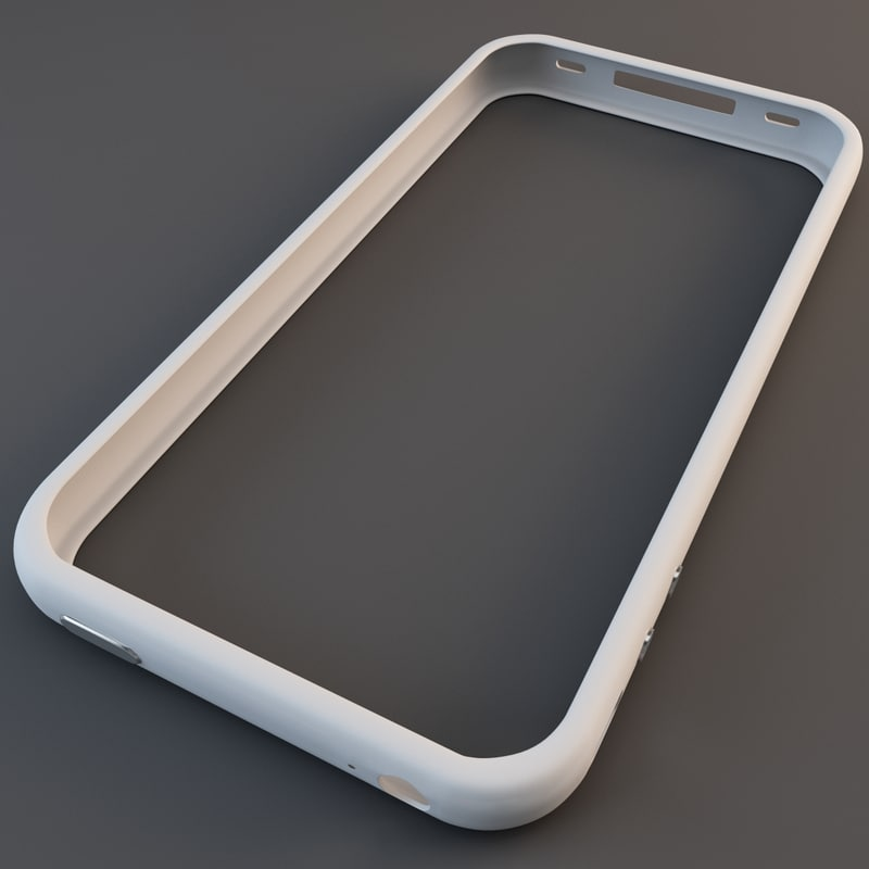 3d white iphone 4 bumper