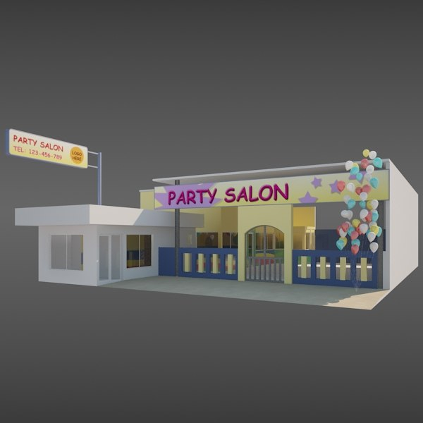 3ds max children party room