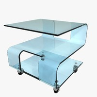 glass tea table 3d model