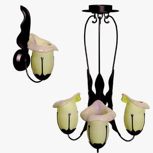 3d sconces chandeliers lamp international model