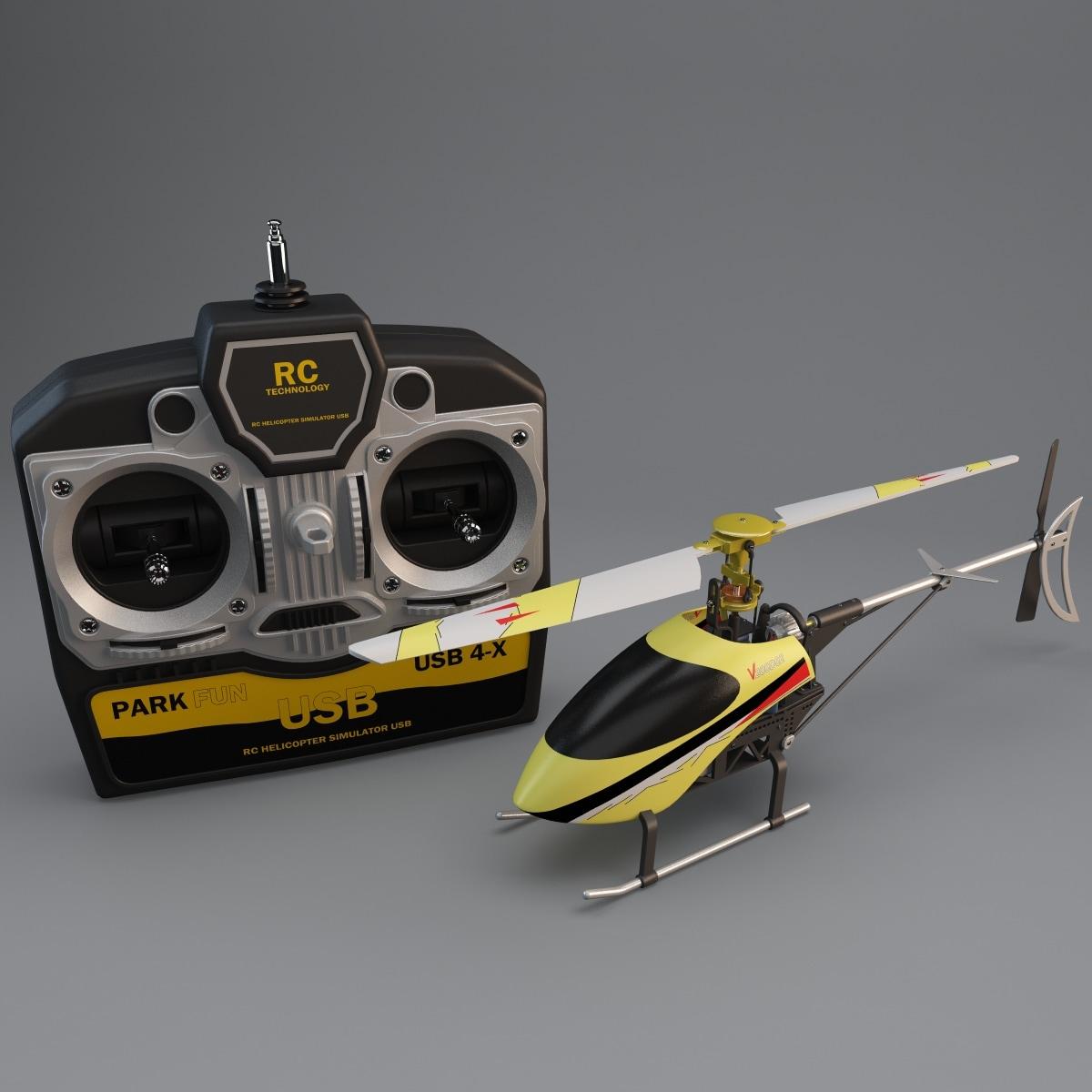 walkera mini helicopter set 3d model