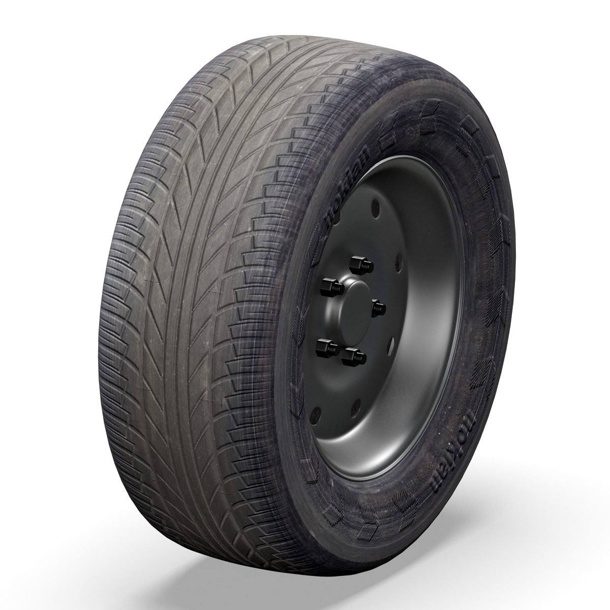 3d old car wheel
