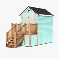 3d beach hut model