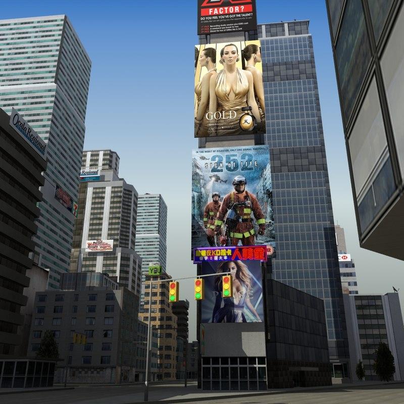 lwo downtown city block
