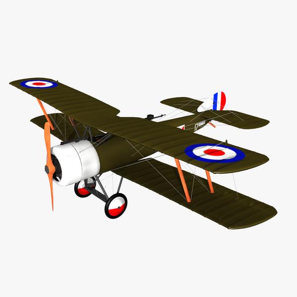 3dsmax sopwith strutter aircraft