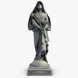 woman sculpture 2 3d model