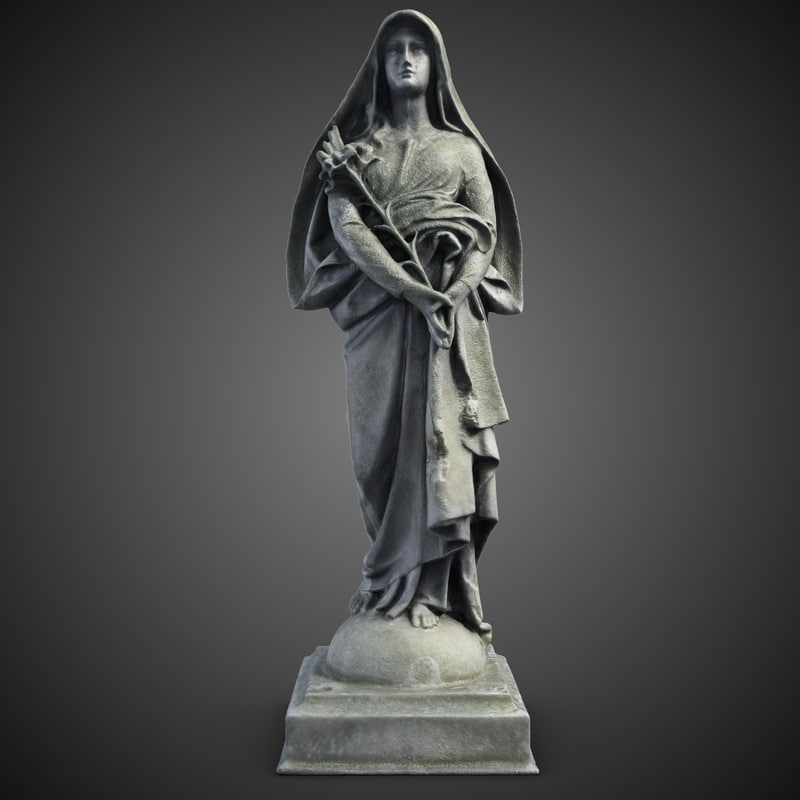 woman sculpture 2 3d model