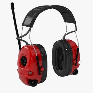 3d model peltor alert headset