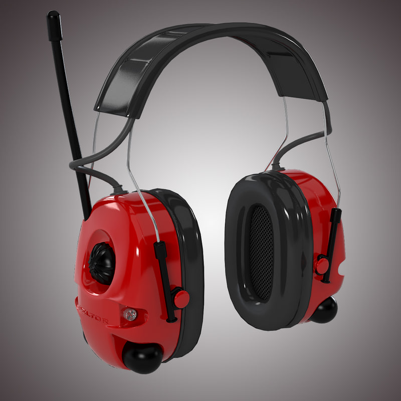 3d model peltor alert headset