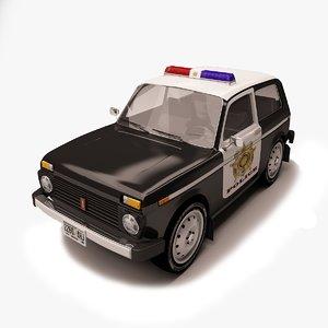3d car modeled model