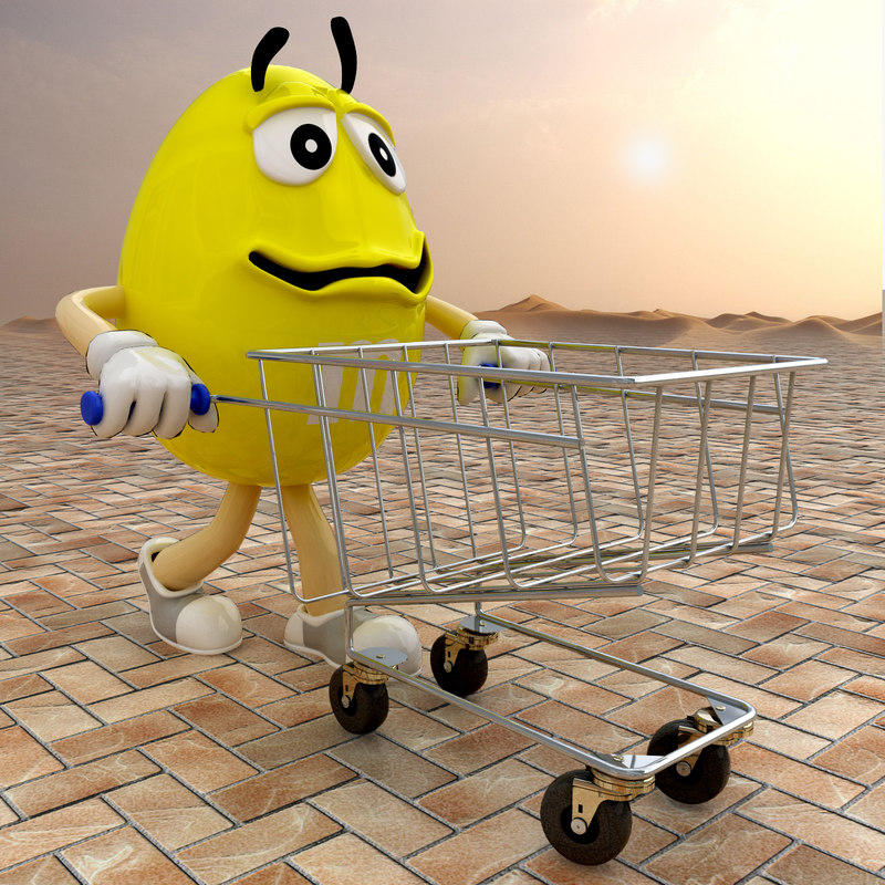 3ds max character m s shopping trolley