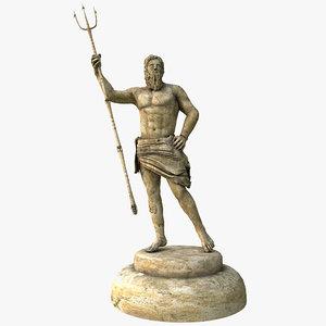 3ds max poseidon statue v2