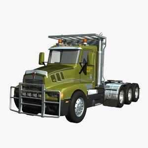 t600 logging truck 3d model