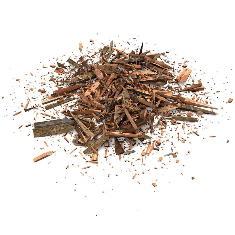 wood debris 3d model