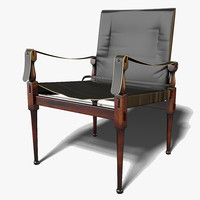 3d model of authentic campaign chair