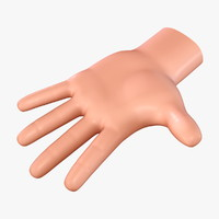 3d model cartoon hand no:7