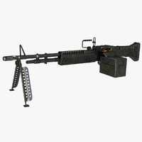 3d m60 machine gun model