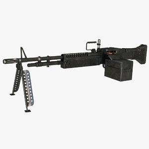 3d m60 machine gun model