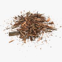 Wooden Plank Lumber Sawdust Debris