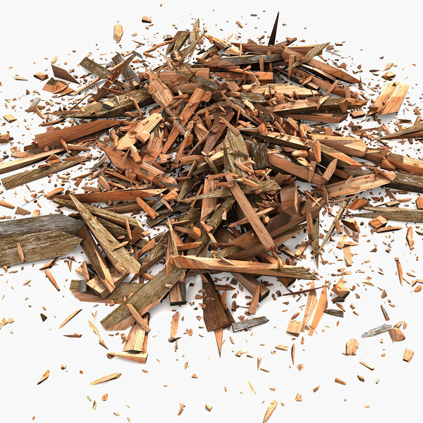 3d model of wood debris