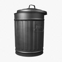 Tin Trash Bin
